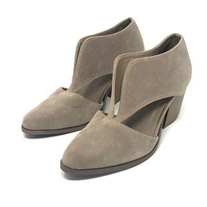 Beast Fashion tan Slip On Cut Out Booties 8